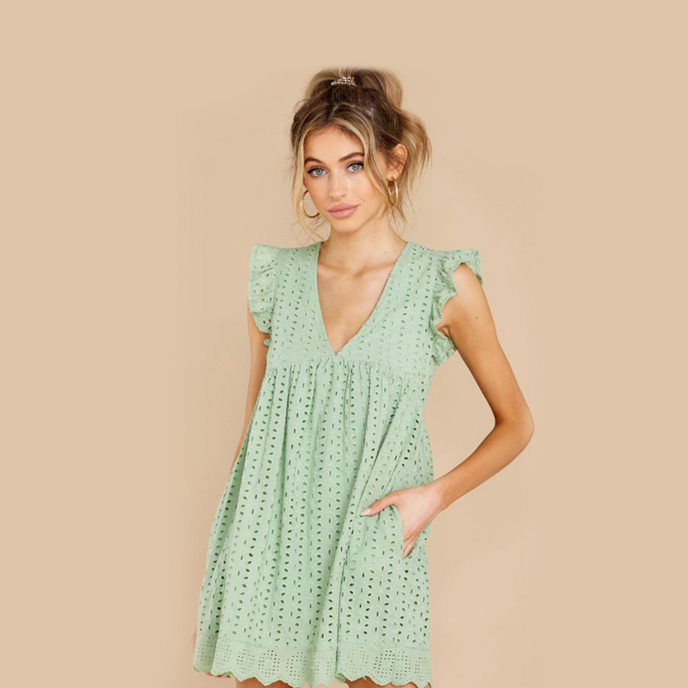 Most popular products in Jan 2021 : Keep A Secret Pastel Green Romper Dress